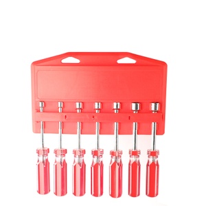 7Pc Sae Or Metric Nutdriver Set With Hanging Rack